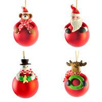 Lovely Xmas Tree Hanging Decor Red Bear Santa Claus Snowman Ball Home Ornament