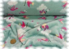 Flying Birds soft mint Kuschelnicky Kinderstoff Fleece Plüsch Flanell Fleece 25