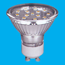 2x 3W (=35W) ULTRABRITE LED GU10 Warm White 3000K Reflector Light Bulb Lamp