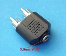 New 3.5mm AUX Female to 2 RCA Male Audio Stereo Adapter Splitter Connector