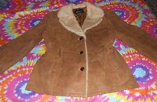 Victorias Secret Moda International Distressed Leather Jacket Camel Size L EU