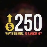 x20 Random Steam Key Premium Games (+$250) Video Delivery Fast (Region-Free)
