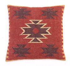 2 Pcs Kilim Rug Cushion Cover Jute Hand Woven Designer Kelim Throw Pillow Sham S