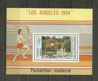 IVORY COAST-1984 Airmail - Olympic Games - Los Angeles,  - MUH MINIATURE. SHEET.