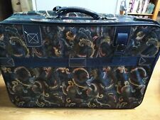 Large Tapestry Suitcase With Wheels Navy