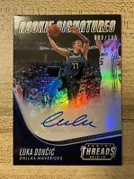 Luka Doncic 2018-19 Panini Threads Rookie Signatures Auto RC 8/105