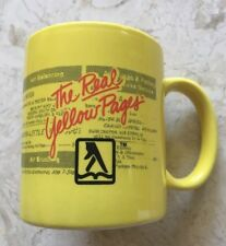 Yellow Pages Coffee Cup / Mug Telephone Bell System Advertising