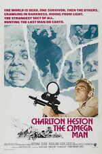 THE OMEGA MAN Movie POSTER 27x40 B Charlton Heston Anthony Zerbe Rosalind Cash