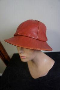 True Vintage Leather Sz L Hip Hop Vtg Brim Bucket Retro LL Cool J Hat Cap
