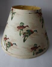 "Mallard Duck Fabric Lamp Shade Hunting Cream Biege 9"" x 13"""