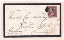 RICHARD SOMERSET, 2ND BARON RAGLAN - SIGNED COVER, ADDRESSED IN HIS HAND c.1865