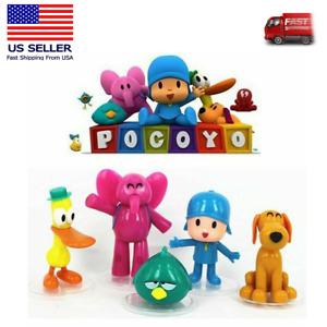 5pc Pocoyo Zinkia Elly Pato Loula Sleepy Action Figure Doll Toy Cake Topper Gift