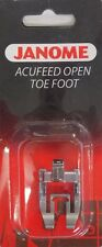 Janome AcuFeed Open Toe Foot - Perfect for Patchwork NEW MC6600P 7700QCP Horizon