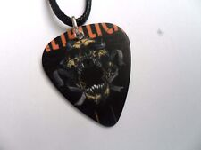 METALLICA   Double Sided Guitar Pick  /  Plectrum Leather Necklace   a