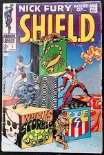 NICK FURY AGENT OF SHIELD 1968 #1 TO 18 COMP.OVERALL NICE 1ST BULLSEYE CLASSIC.