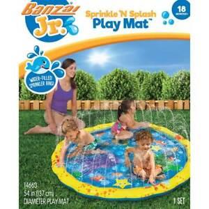 Banzai Junior Sprinkle N Splash Play Mat Garden Water Fun Toddler Paddling Pool