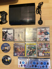 Sony Playstation 3 PS3 Super Slim 12GB Black Console, 9 Games + More