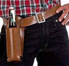 brauner Gürtel mit Bierflaschenhalter Dosenhalter 130 cm Cowboy