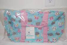 9eb9eb19e1 NEW Pottery Barn Kids Aqua Pink Princess Kitty Cat Duffle Bag Luggage Travel