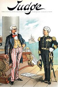 Admiral Meade Resignation 1895 PATRIOTISM at DISCOUNT CLEVELAND ADMINISTRATION