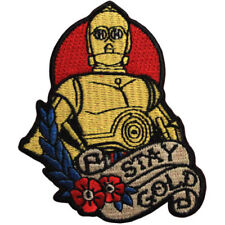 Star Wars Official C-3PO 'Stay Gold' Force Awakens Lucasfilm Iron On Patch