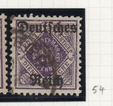 Germany 1920 Wurt. OFFICIAL Early Issue Fine Used 15pf. Optd 270568
