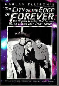 CITY ON THE EDGE OF FOREVER / Star Trek, signed Ellison, Shatner, Nimoy