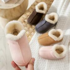 Kids Warm Cotton Shoes Plush Slippers Girls Boy Baby Non-slip Winter Home Shoes