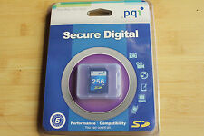 1pcs NEW 256mb PQI  standard SD  MEMORY CARDs RARED old SD cameras,PDA,PALM