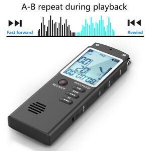 8-32GB Mini  Audio Recorder Voice Activated Listening Device Lecture Palyer