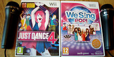 Like Lips We Sing Pop Edition Just Dance 4 Microphones Nintendo Wii Sing Games!!