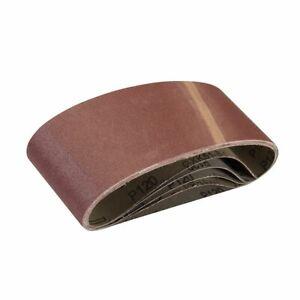 Silverline 120 Grit Sanding Belts 75 x 457mm 5pk 901495