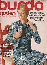 Burda Moden 11.1970 November mit Schnittmusterbogen und Nähanleitungen