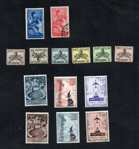 1954. POSTAGE DUE SET MH &1955 FRA ANGELICO SET MH/VGU & 1967 AIR MAIL SET LHM.