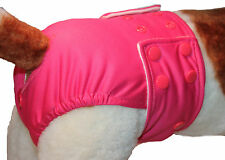 SIZE SMALL Female Dog Diaper/ Pants / Nappy - Washable Fabric - Poppers / Cerise