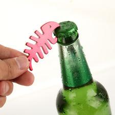 1Pc Alloy Aluminum Fish Bone Key chain Beer Bottle Opener KeyChain Ring Bar Tool