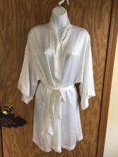 Victoria's Secret Bride Robe Bling White Satin Bridal Kimono O/S NWOT