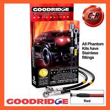 VW Golf Mk5 FWD Frt+Mids Goodridge Stainless Red Brake Hoses SVW0610-4C-RD