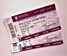 Aston Villa FC v Tottenham Hotspur Memorabilia Football Tickets / Stubs 20/10/13