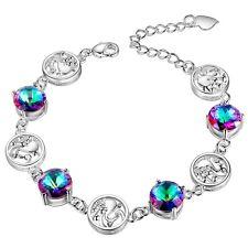Rainbow Mystic Topaz  Silver Plated Bracelet