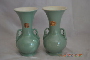 Abingdon Depression Pottery 2- #515 Abbey Vases