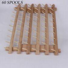 Foldable Wood Spool Thread Stand Rack Organizer Storage Holder Sewing Accessory