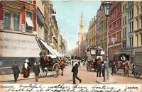 POSTCARD  LONDON -  CHEAPSIDE -  JEWELLERY SHOP -  CARRIAGES  Circa 1905