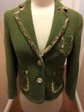 Banana Republic Green Wool Blend Riding JACKET blazer 2/XS two button