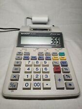 Sharp El-1750V 12-Digit 2-Color Serial Printing Calculator Works Great Need Ink