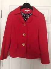 LK Bennett 100% Cotton Orange Jacket Size 10