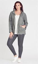 Crossroads Khaki green Drawstring waist waistcoat Parka coat Jacket size 20 22