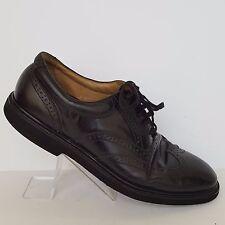 Rockport Dressports Black Leather Wingtips Vibram Soles 72401 Mens size 10 M