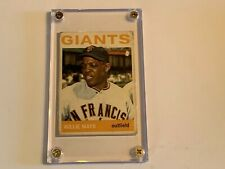 Vintage 1964 topps baseball card Willie mays #150 as found ungraded