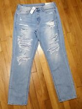 American Eagle Vintage Hi Rise Jeans Size 14 X Long XL Distressed New With Tags
